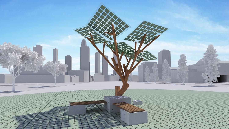 El primer árbol solar de Europa