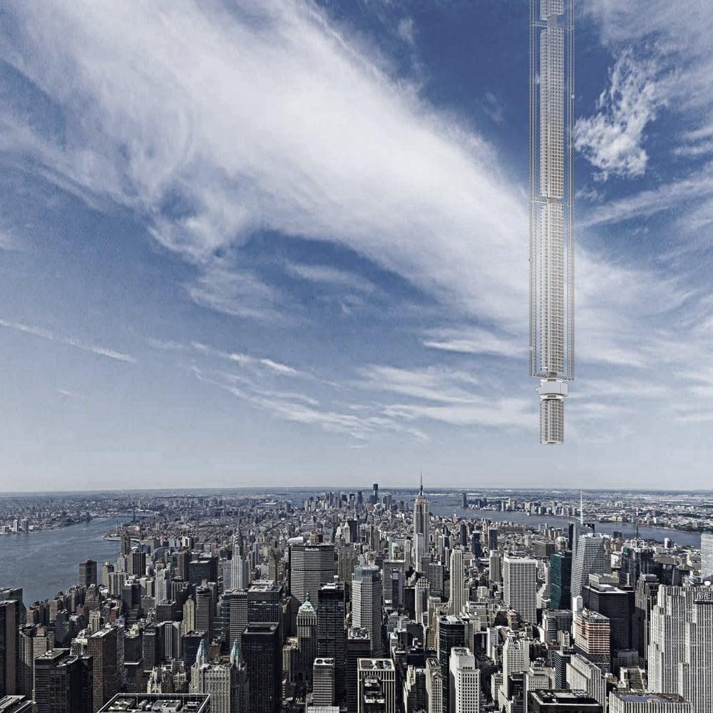 El rascacielos colgado del cielo