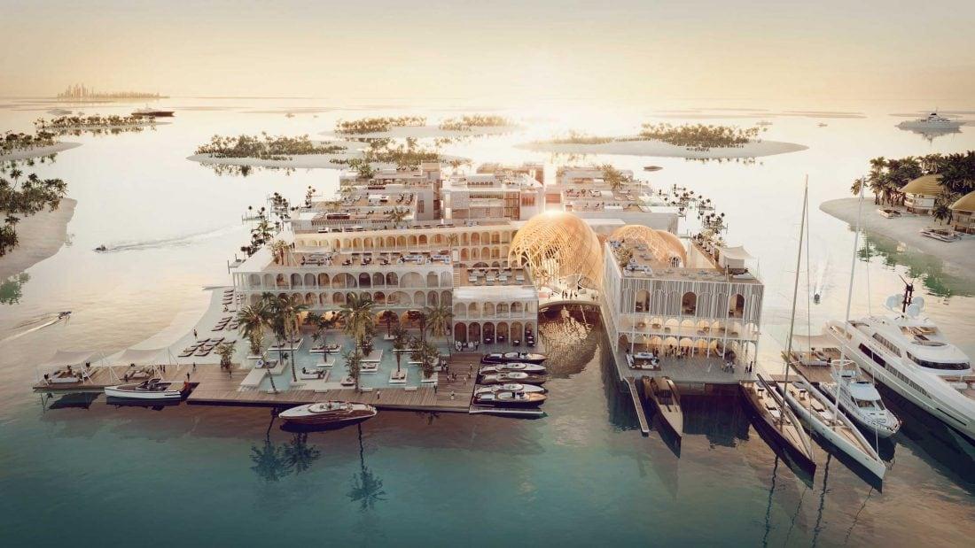 Una réplica flotante de Venecia en Dubái
