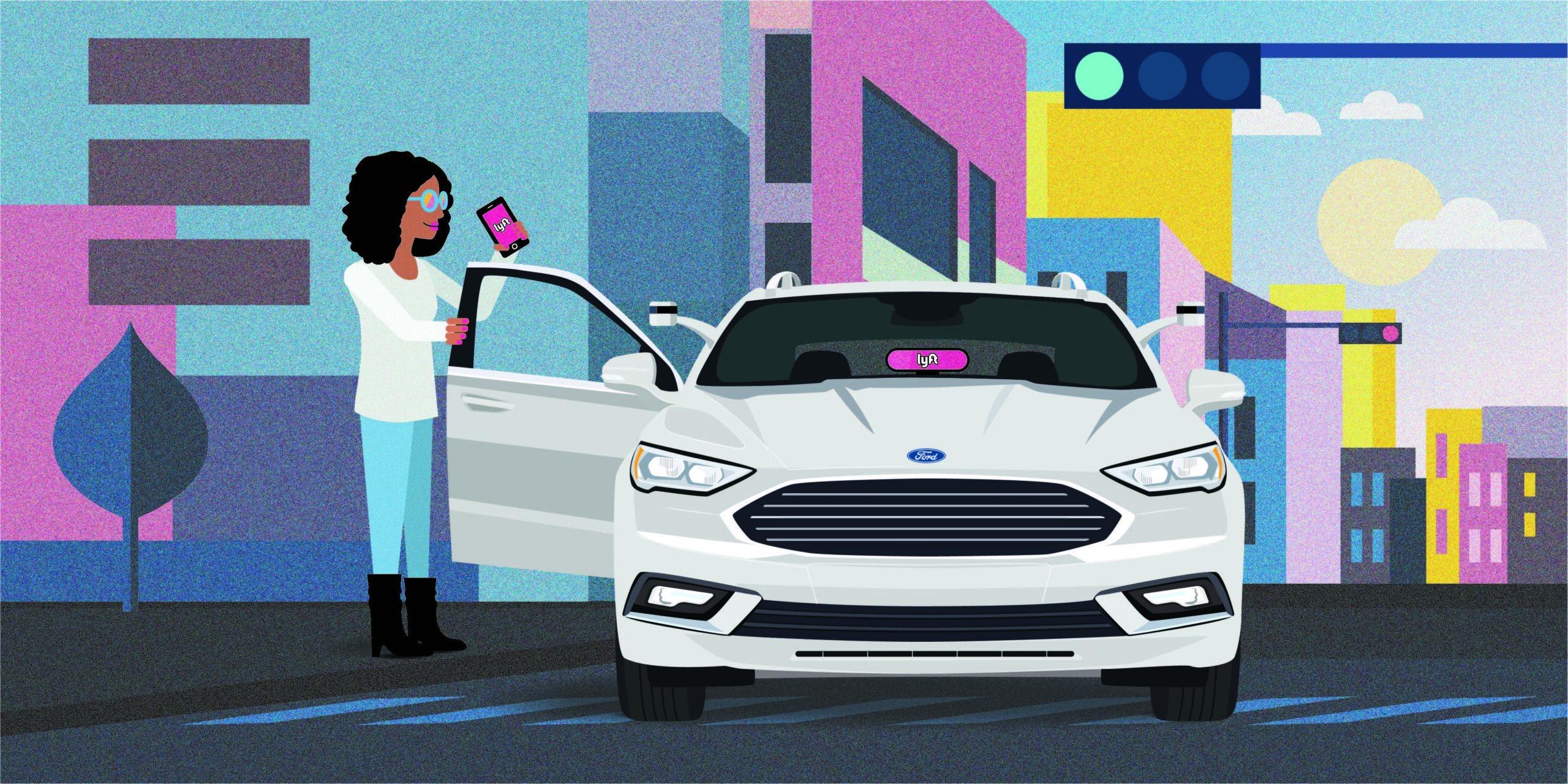 Ford se une a Lyft para desarrollar vehículos autónomos