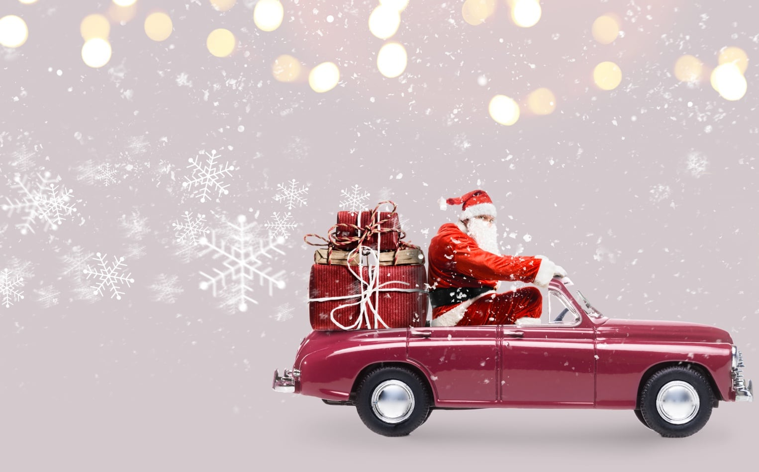 ¿Cuánto tardaría Papá Noel en entregar los regalos en coche?