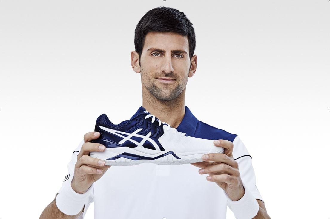 ASICS y Novak Djokovic se unen en la pista
