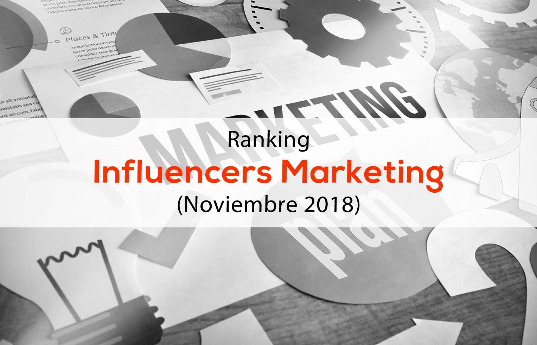 Ranking Influencers marketing digital