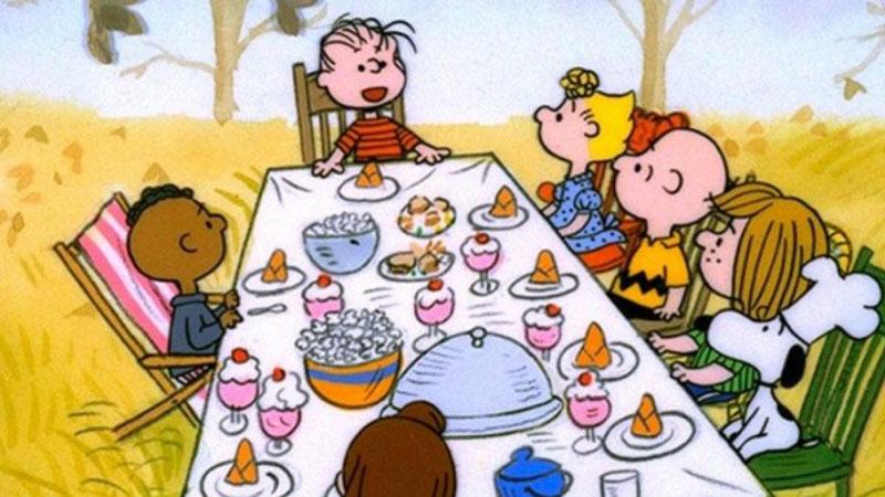 Acción de Gracias: escena de Charly Brown.