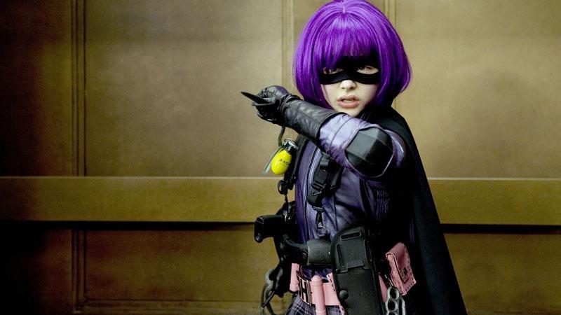 Superheroínas de cine: Hit Girl.